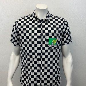MTV Music Television Black White Logo Shirt Rare